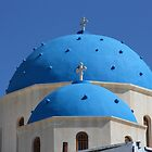 church dome in santorini by milena boeva