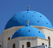 church dome in santorini by milena boeva