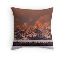 Grand Teton Sunrise Throw Pillow