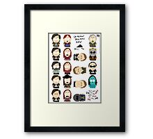 OMG they killed Rory! Posters! Framed Print