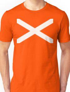 St. Andrew's Cross - Scottish Flag Unisex T-Shirt