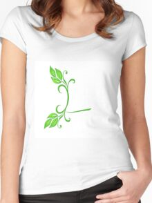 Alphabet -L Women's Fitted Scoop T-Shirt