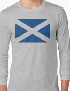 St. Andrew's Cross - Scottish Flag (design 2) Long Sleeve T-Shirt