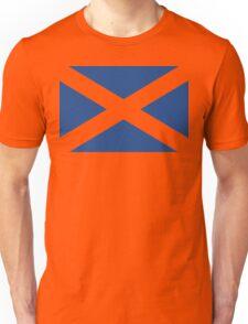 St. Andrew's Cross - Scottish Flag (design 2) Unisex T-Shirt