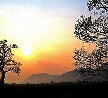 Hazy Sunset over the Ochil Hills by Alisdair Binning