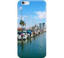 Honolulu Harbor Waikiki iPhone Case/Skin