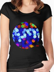 Colourful Confetti Women's Fitted Scoop T-Shirt