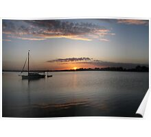 Sunset on the Norfolk Broads Poster