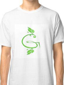 A letter G formed with leaves. Classic T-Shirt