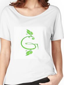 A letter G formed with leaves. Women's Relaxed Fit T-Shirt