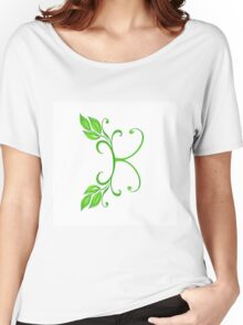 A letter K formed with leaves. Women's Relaxed Fit T-Shirt