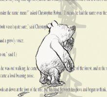 Thinking Bear  Sticker