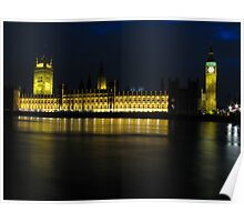 Big Ben at night Poster