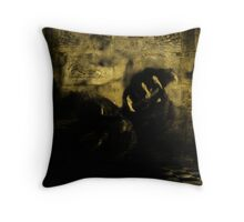 In The Demons Lair Throw Pillow