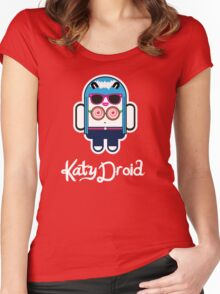 Katy Perry goes Google Android Style! Women's Fitted Scoop T-Shirt