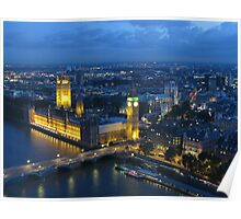 Big Ben from above Poster