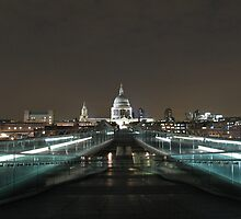 St. Paul's Cathedral from Millenium Bridge 2 by Andre090904