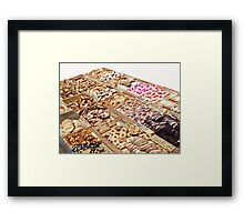 French market offers some goodies... Framed Print