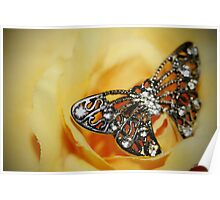 Jewelled Butterfly Poster