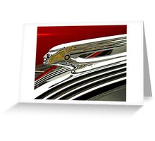 1937 Pontiac Hood Ornament Greeting Card