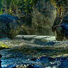 Morning at Elbow Falls by Justin Atkins
