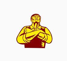 Businessman Arms Crossed Woodcut Unisex T-Shirt