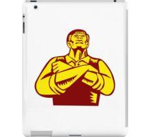 Businessman Arms Crossed Woodcut iPad Case/Skin