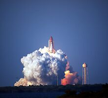 Final launch of Discovery by chibiphoto