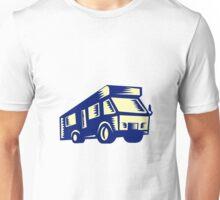 Camper Van Motor Home Woodcut Unisex T-Shirt