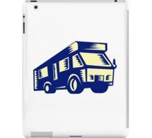 Camper Van Motor Home Woodcut iPad Case/Skin
