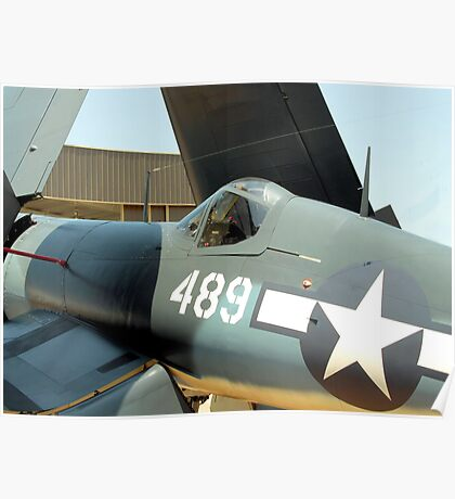 Vought F-4U Corsair, WWII Poster