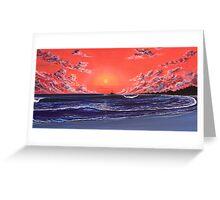 SUNSET PEAKS Greeting Card