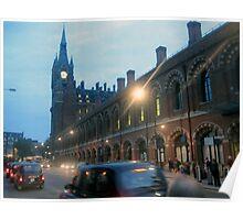 London Train Station Poster