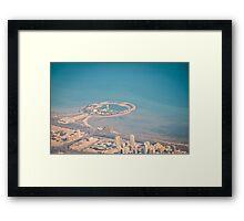 Green island, Kuwait Framed Print