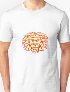 Angry Lion Big Cat Head Retro T-Shirt