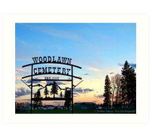 Woodlawn Sign Art Print