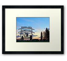 Woodlawn Sign Framed Print