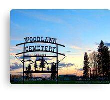 Woodlawn Sign Canvas Print