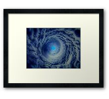 it will be thus the eye of the cyclone? Framed Print
