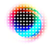 Behind Rainbow Eyes Photographic Print
