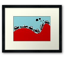 Rally Retro Car Framed Print