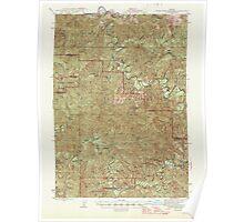 USGS Topo Map Oregon Roman Nose Mtn 282845 1945 62500 Poster