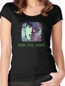 Potatoes Women's Fitted Scoop T-Shirt