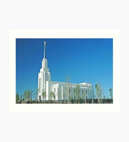Twin Falls Idaho LDS Temple Art Print