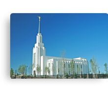 Twin Falls Idaho LDS Temple Canvas Print