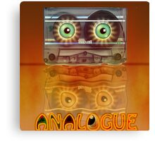 Cassette Tape Analogue Cartoon 3 Canvas Print