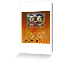 Cassette Tape Analogue Cartoon 3 Greeting Card