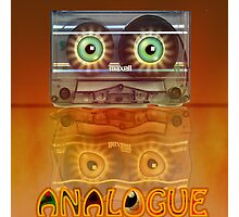 Cassette Tape Analogue Cartoon 3 Photographic Print