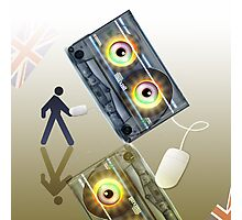 Cassette Tape Analogue Cartoon 4 Photographic Print