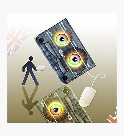 Cassette Tape Analogue Cartoon 4 Photographic Print